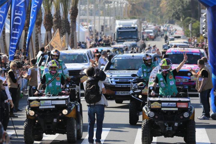 Départ du Rallye Aïcha des Gazelles à Nices