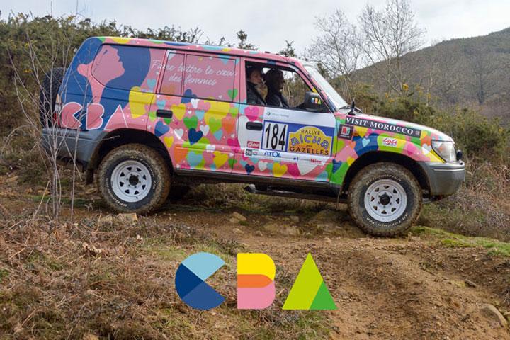 Véhicule de la Team numéro 184 pour la préparation du Rallye Aïcha des Gazelles