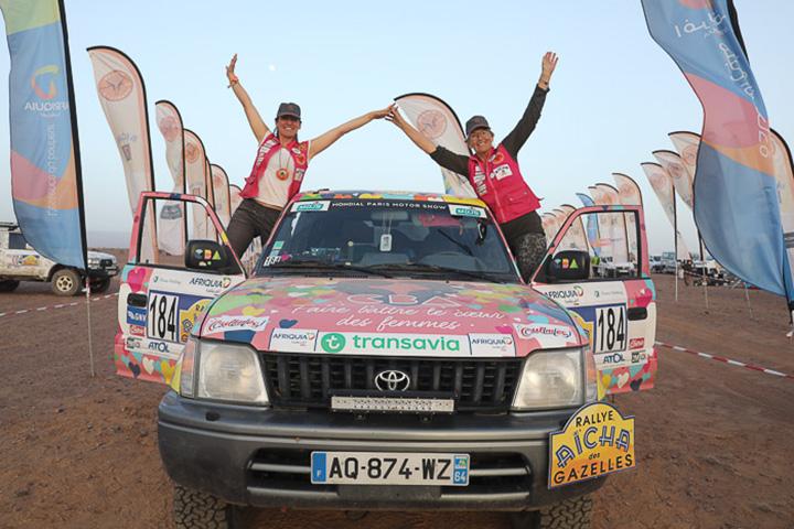 Arrivée officielle du Rallye Aïcha des Gazelles