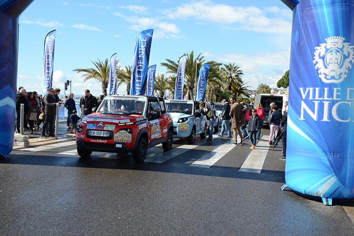 Départ du Rallye à Nice
