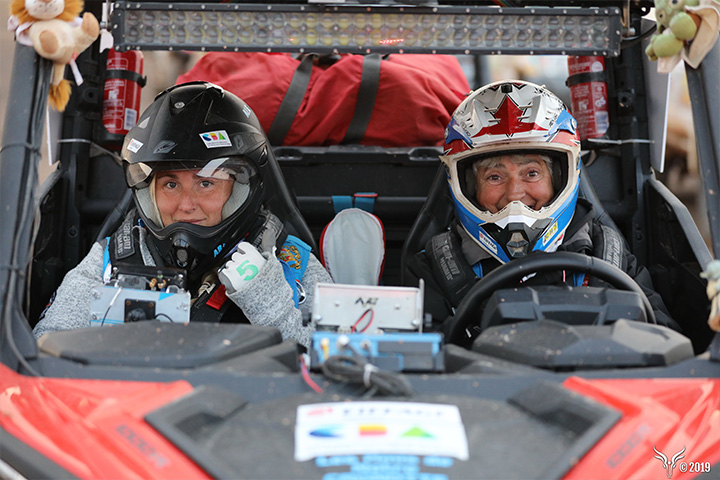 Alexandra et sa coéquipière - Rallye Aïcha des Gazelles
